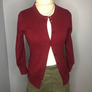 The Clare cardigan. J. Crew burgundy small